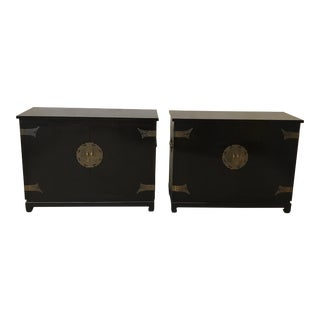 Black Lacquered Ming Style Chests by Cathay Arts Co., Hong Kong - A Pair