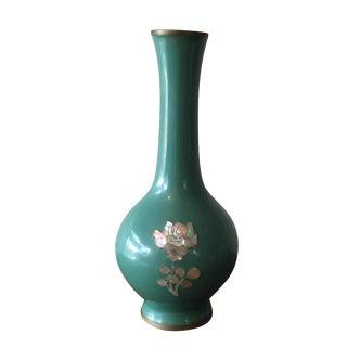 Cloisonné Turquoise Bud Vase
