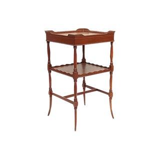 Walnut 2-Tier Side Table