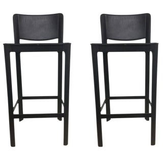 Vintage Matteo Grassi Italian Leather Bar Stools- A Pair