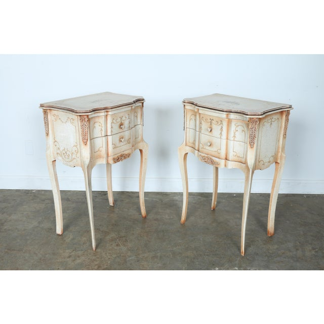 French Style Nightstands - A Pair - Image 7 of 11