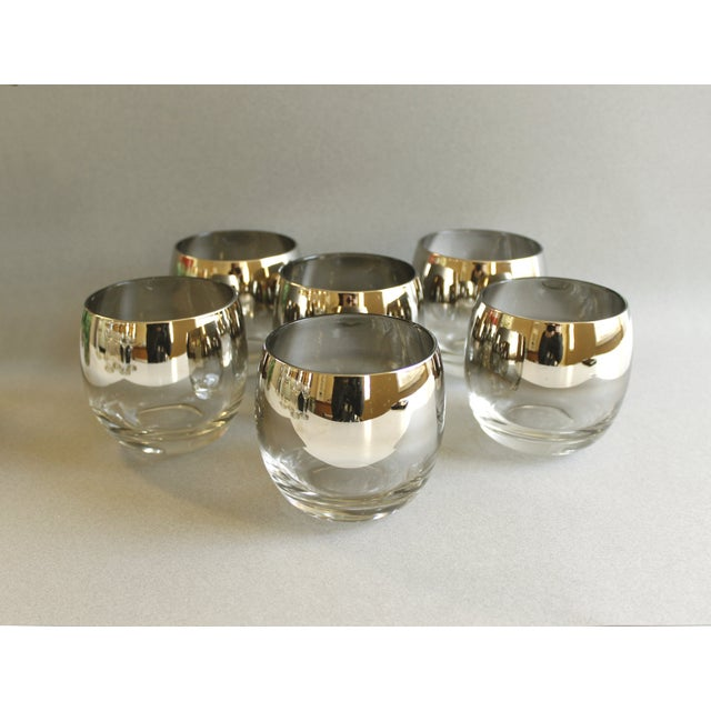 Mid-Century Silver Ombre Roly Poly Glasses - Image 2 of 4