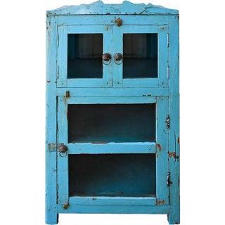 Indigo Cupboard With Glass Doors