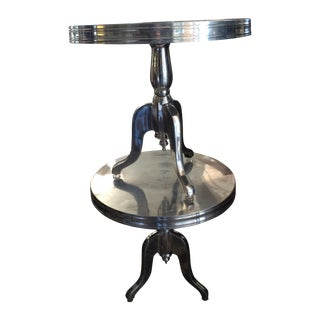 Industrial Aluminum Recycled Side Tables - A Pair