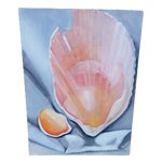 Image of Unsigned Seashell Painting on Canvas
