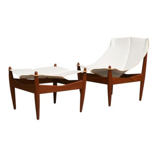 Illum Wikkelso Easy Chair and Ottoman