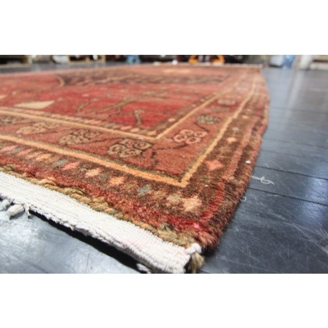 "Apadana - Red Persian Runner Rug - 4'8"" x 10'8"" - Image 3 of 3"