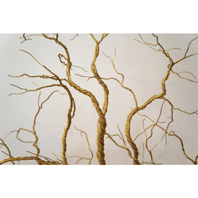 Twisted Brass Wire Chandelier - Image 3 of 3
