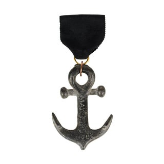 Spanish-American War Original Pewter Anchor Medal, Circa 1898
