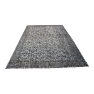 "Gray Color Turkish Overdyed Rug - 7'6"" x 10'6"""