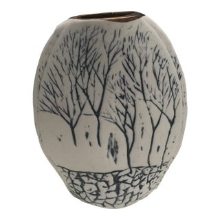 Blue & White Art Pottery Vase