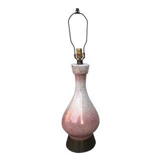 Mid-Century Pink Ceramic Lamp