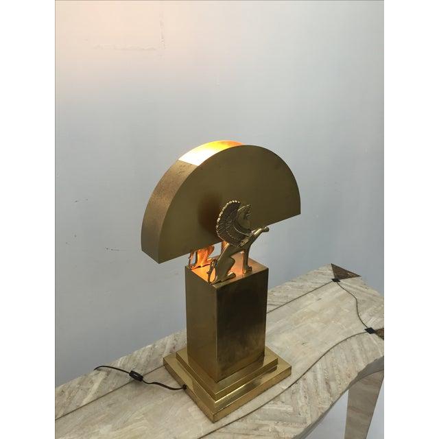 Rare Custom Lamp in the Manner of Karl Springer - Image 7 of 9