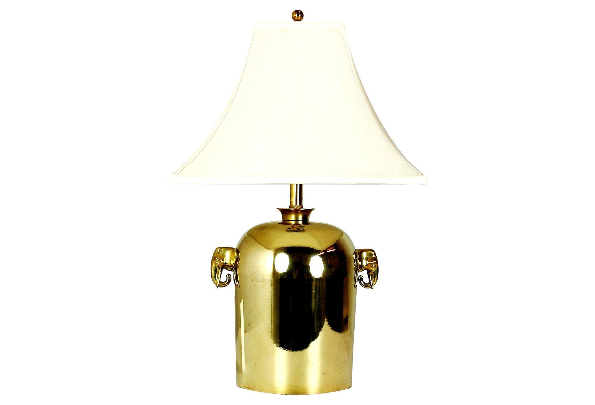 Mid Century Brass Elephant Table Lamp Chairish