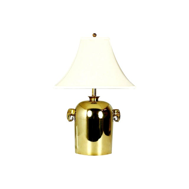 Mid-Century Brass Elephant Table Lamp - Image 5 of 5