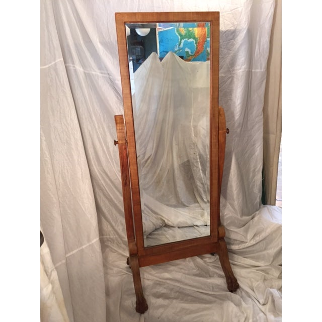 Full Length Antique Cheval Mirror - Image 2 of 8