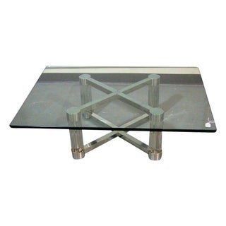Lucite & Chrome Coffee Table