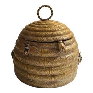Vintage Mottahedeh Brass Lidded Beehive Box