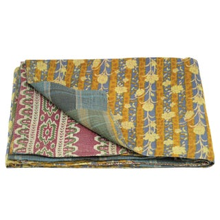 Daisy Vintage Kantha Throw