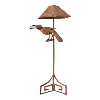 Vintage Mario Lopez Torres Wicker Toucan Lamp