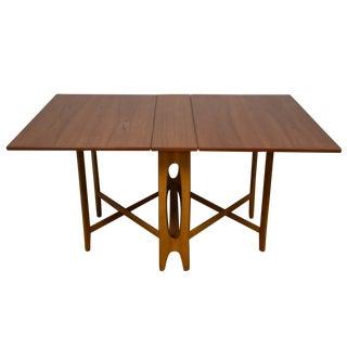 Drop-Leaf Dining Table by Bendt Winge