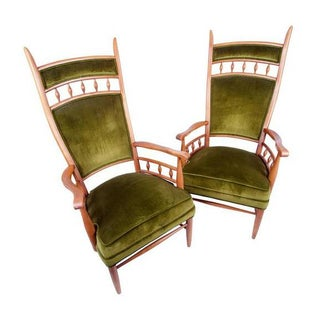 Maxwell Royal High-Back Armchairs - A Pair