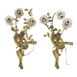 French Antique Sconces - a Pair
