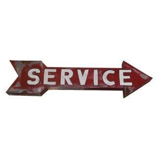 Vintage Hollywood Era Service Sign