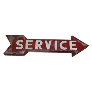 Vintage Hollywood Era Service Sign