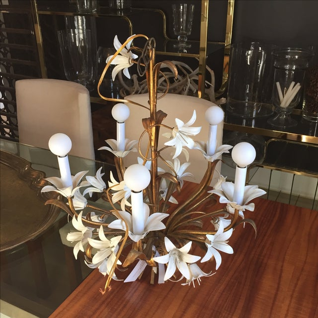 Italian Tole Chandelier - Image 4 of 4