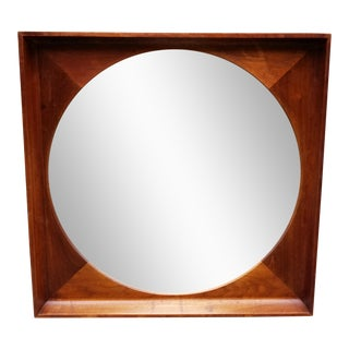 Mid-Century Modern Arthur Unamoff for Howard Miller & Clock Co. Square Mirror