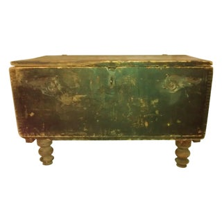 Antique Shabby Chic Dovetailed Black Chest