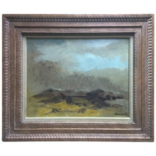 Original Oil Landscape by R. Baranet-Custom Framed