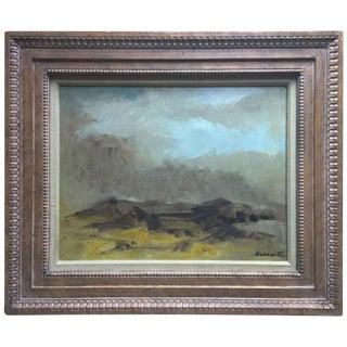 Original Oil Landscape by R. Baranet-Custom Framed
