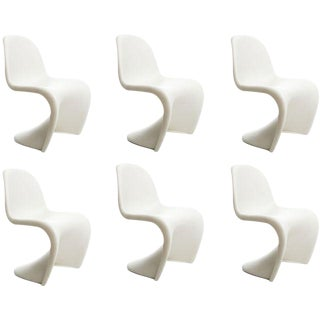 Vitra Panton S Chairs in White - Set of 6