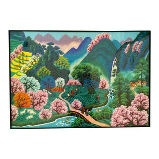 "Framed Asian Painting - 22"" X 31"""