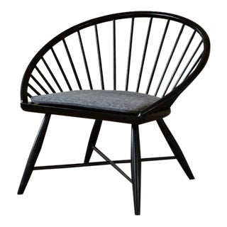 West Elm Modern Windsor Accent Chair in Black