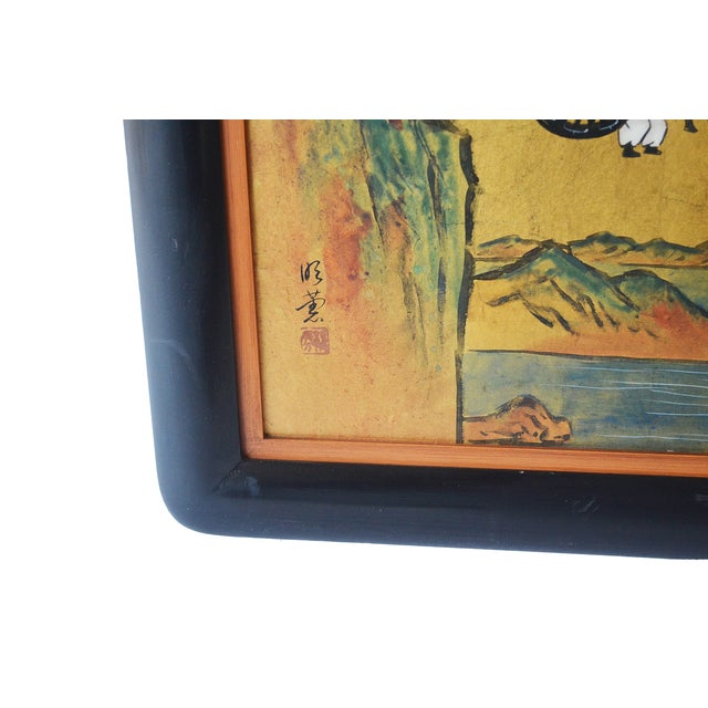 Japanese Carts Painting - Image 4 of 4