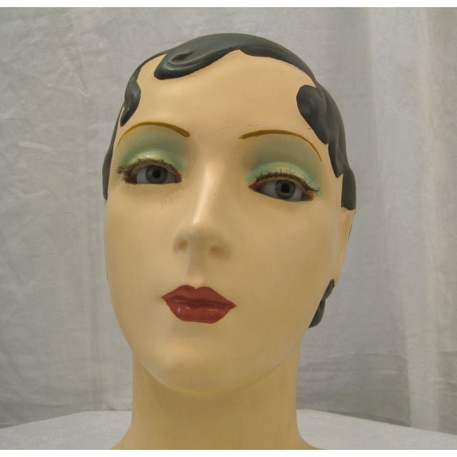 Brunette Vintage Mannequin Head - Image 3 of 6