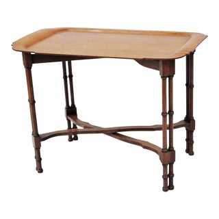 VIntage Sunbeam Faux Bamboo Bentwood Tray Table