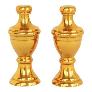 Classic Heavy Brass Finials -A Pair
