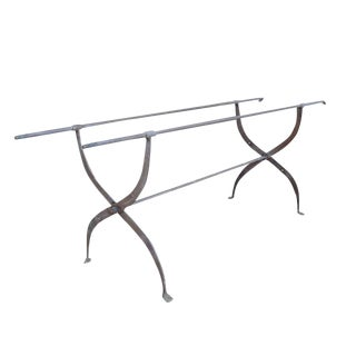 French Wrought Iron Campaign Bed Table Base