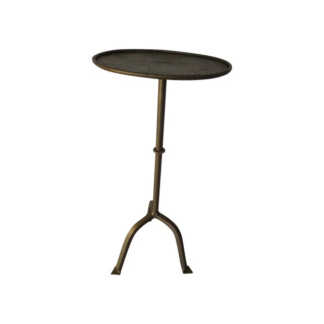 Vintage 1970s Gilt Iron Side Table - Image 1 of 6
