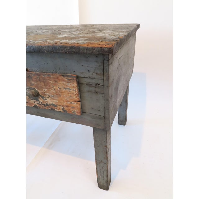Rustic Wood Work Table - Image 7 of 8
