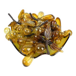 Murano Grape Clusters in Bowl - 7 Pieces
