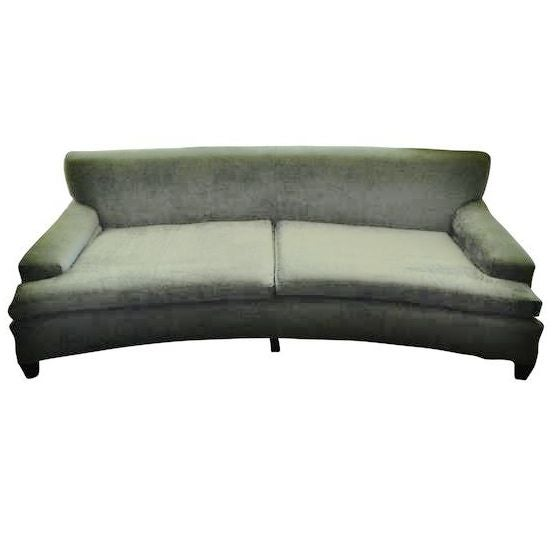 Curved Sofa Atlanta: Vintage Velvet Curved Sofa