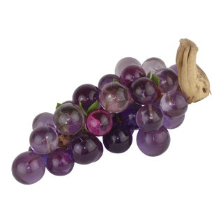 Mid-Century Purple Lucite Grape Cluster