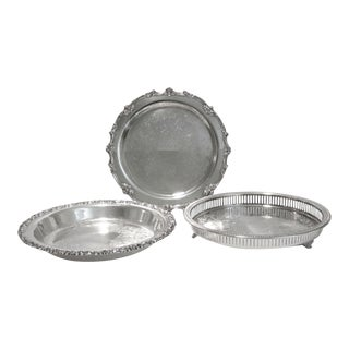 Vintage Silverplate Serving Trays - Set of 3