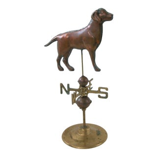 Copper and Brass Labrador Dog Weathervane