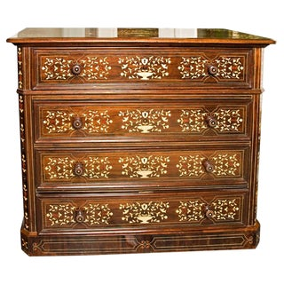 South American Inlaid Chest of Drawers, 19th c